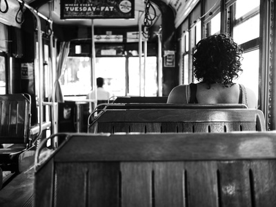 Inside the street car