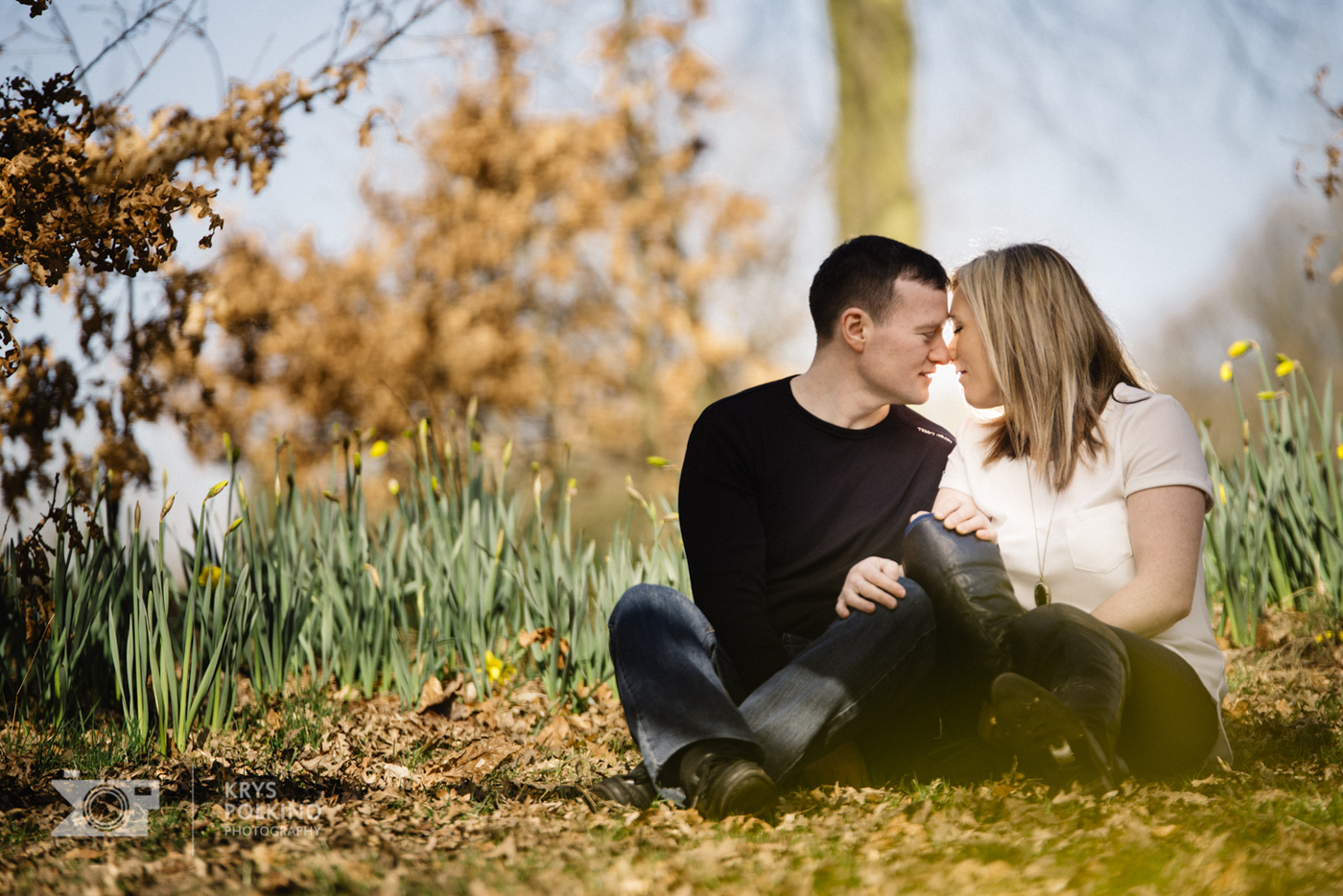 Joanne & Carl engagement session in Sefton Park, Liverpool.