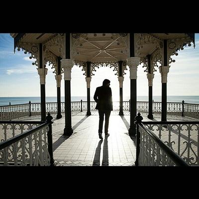 #bandstand #seaside #beach #singer #albumcover #robertvincent #rebeccacrestaphotography #bluesky #photooftheday #canon #sun #shadow #promoshot #bandpromo #musicphotography #musician #singer #middaysun #horizon