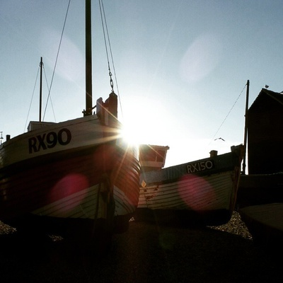 #boats #beach #sun #fishingboats #england