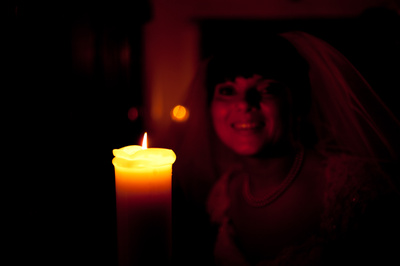 The candle created a great lighting effect