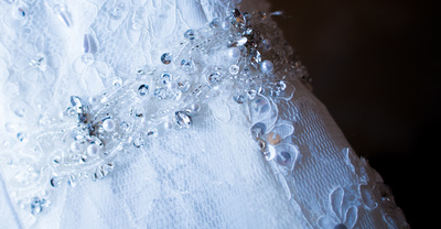Close up details of your wedding dress