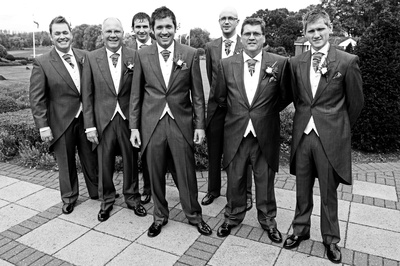 The groom and ushers