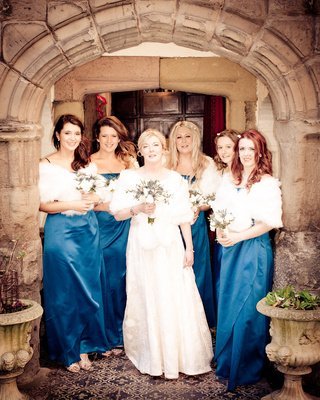 Lisa and the girls at Tamworth Castle