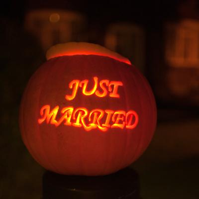 Sandie & Mark got married near Halloween