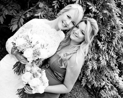 Bride and best friend - Packington Moor