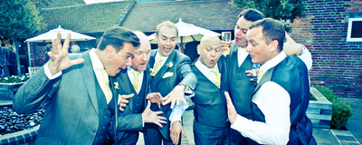 Packington Moor - the fabulous groomsmen!