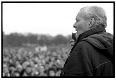 Tony Benn addressing CND Rally - October 1983