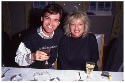 Philip Schofield & Annie Nightingale - BBC Radio 1, Christmas Party 1991