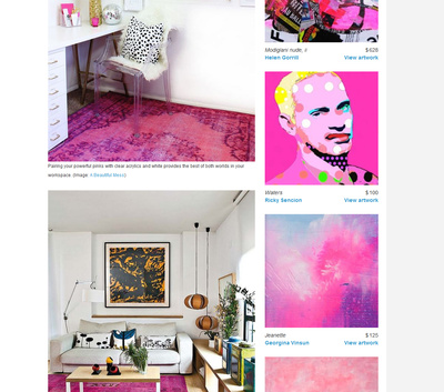 Think Pink - Canvas: a blog by Saatchi Art